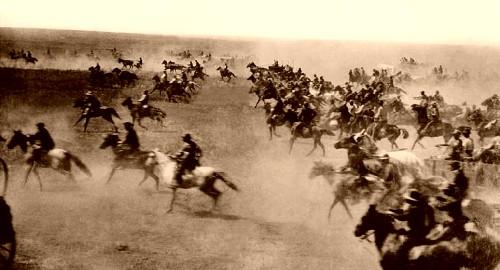 The Oklahoma land grab of 1889