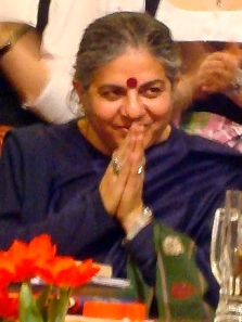 Dr. Vandana Shiva. Photo by Dominik Hundhammer, from Wikimedia Commons.
